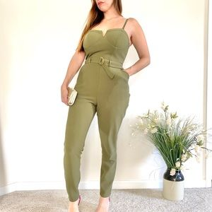Material Girl Army Green jumpsuit
